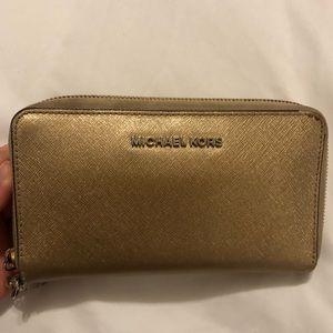 Gold Shimmery Michael Kors wallet